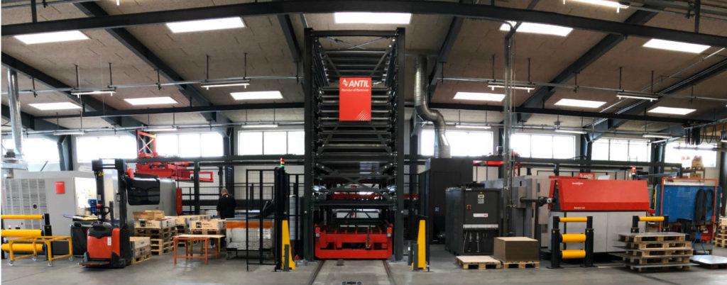 fiberlaser med højlager, Hosta Industries